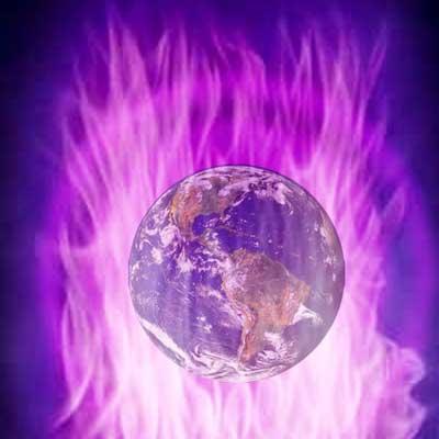 luce violetta metafisica